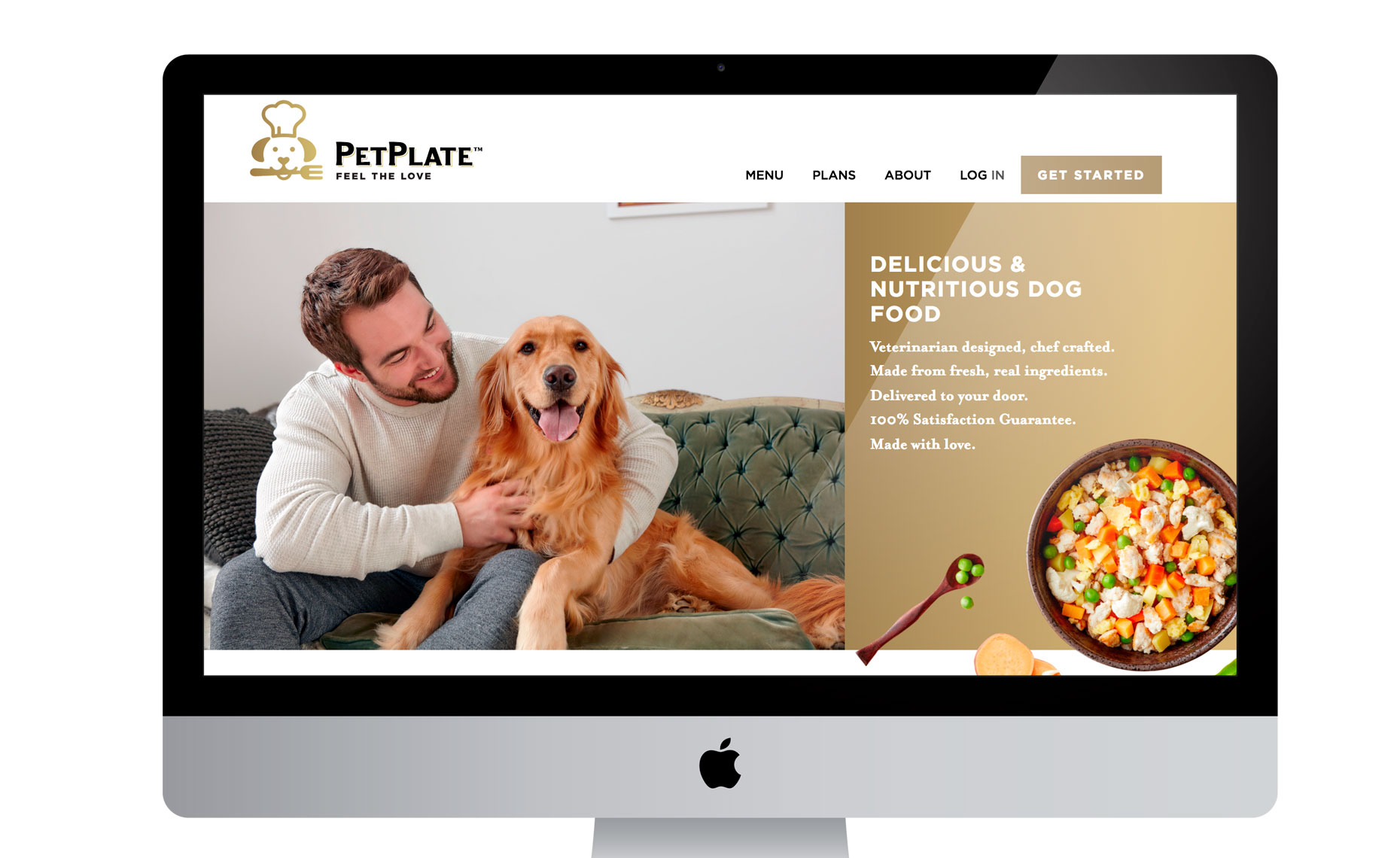 pet plate dog food and lifestyle shoot
